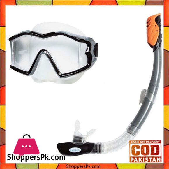c09ce71f9f7 On Sale  Intex Silicone Explorer Pro Swimming Diving Mask and Snorkel Set   55961 in