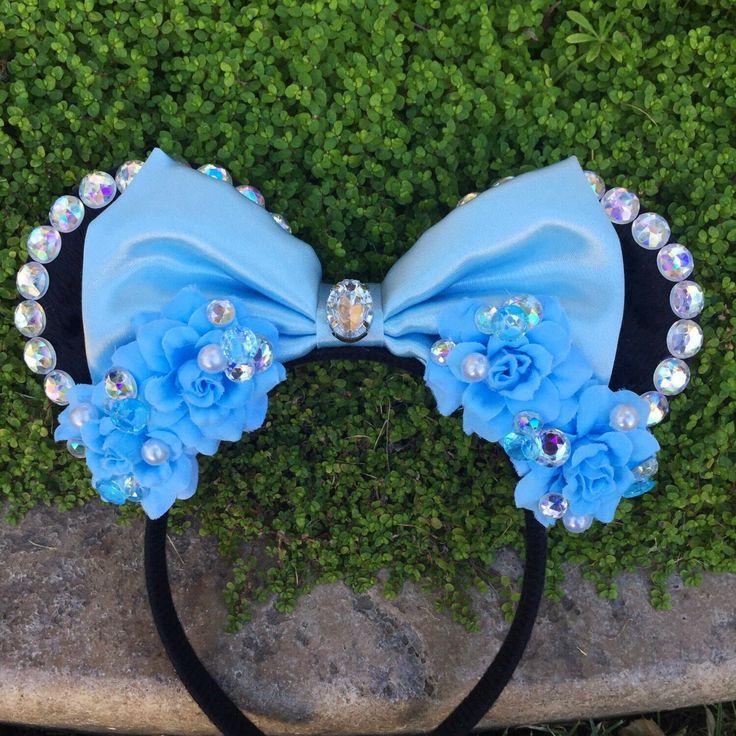 Pre-Order Cinderella Minnie Mouse Ears Flower Crown Headband by KulturShop on Etsy https://www.etsy.com/listing/219331916/pre-order-cinderella-minnie-mouse-ears