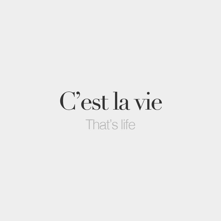C'est la vie | That's life | /sɛ la vi/ #frenchwords