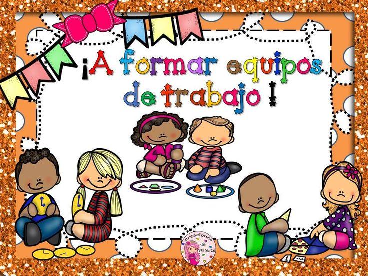 Láminas cooperativo infantil y primaria + consejos formar grupos