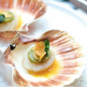 Закуски из морепродуктов Сен-Жак оболочки