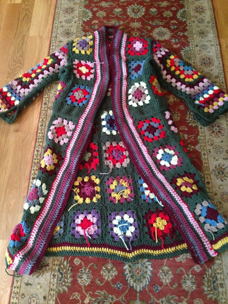 Boho Granny Square Coat. | Foray Into Victorian-Age Madness