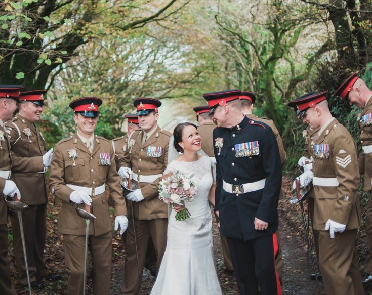 Guards of Honour for the Bride & Groom @ Trevenna Wedding Venue Cornwall