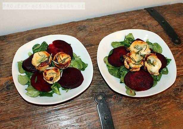 Rezept: Rote Bete-Carpaccio mit gratiniertem Ziegenkäse | Projekt: Gesund leben | Ernährung, Bewegung & Entspannung