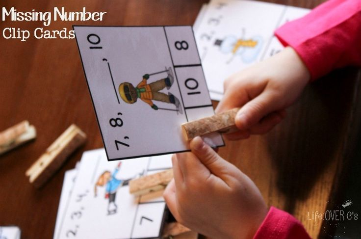 Winter Missing Number Clip Cards