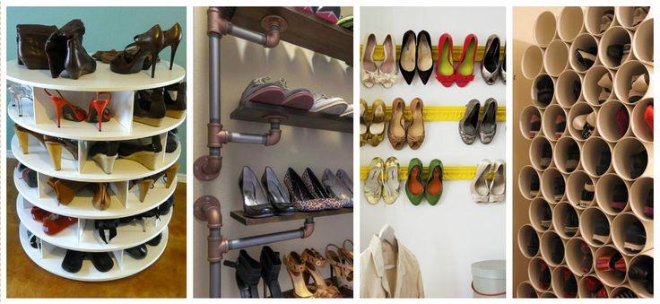 12 Ideias Criativas para Guardar Sapatos - http://coisasdamaria.com/12-ideias-criativas-para-guardar-sapatos/