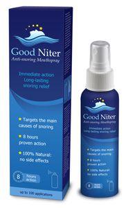 Good Niter: Horkolás elleni szájspray