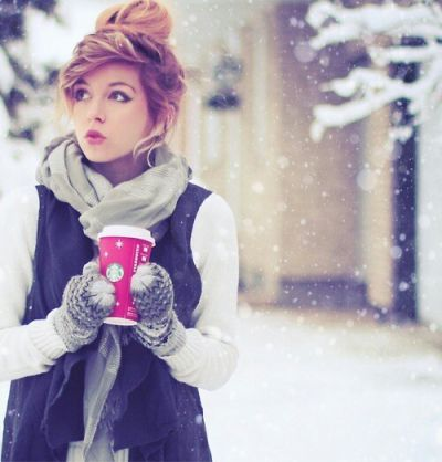 Ohh Baby its Cold Outside! I would try the hairstyle. Its really cute! I like it in my opinion.