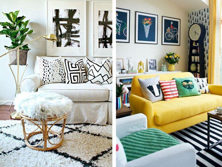 5 nápadů, jak kombinovat polštáře | Tady Je Moje - Netradiční magazín o bydlení