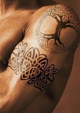celtic shoulder tattoos - Google Search                                                                                                                                                      More