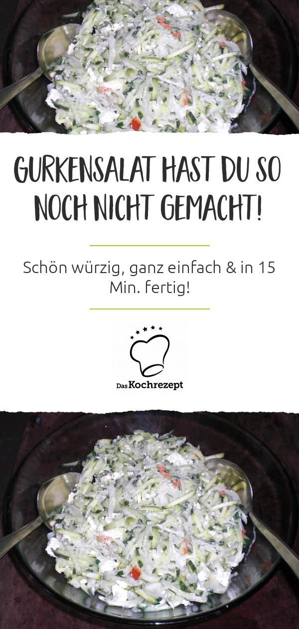 Cucumber salad with sour cream and feta cheese  – BBQ & Grill : Beilagen – #BBQ … – Rezepte