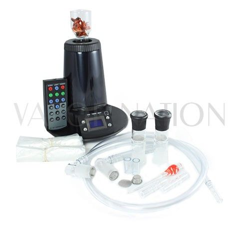 http://www.vapornation.com/arizer-extreme-q-vaporizer.html  Arizer Extreme Q Vaporizer: Newest Version, Balloon Bag or Whip, Remote Control, New Fan, Temp Control with Triple Heat Sensors, Midnight Chrome Finish, Ceramic Heating Element, Lifetime Warranty.  Arizer Extreme Q Accessories (Included): 1x Manual, 1x Vinyl Tubing, 2x Mouthpieces, 2x Glass Bowls, 1x Glass Stir Tool, 1x Replacement Screens, 2x Balloon Kits, 1x Potpourri/Oil Dish, 1x Remote Control, 1x Aromatherapy Sample. #vaporizer