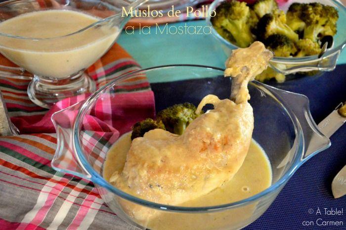 À table !      con Carmen: Muslos de Pollo a la Mostaza