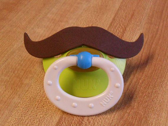 BPA Free, Brown Mustache NUK, Mustache Pacifier