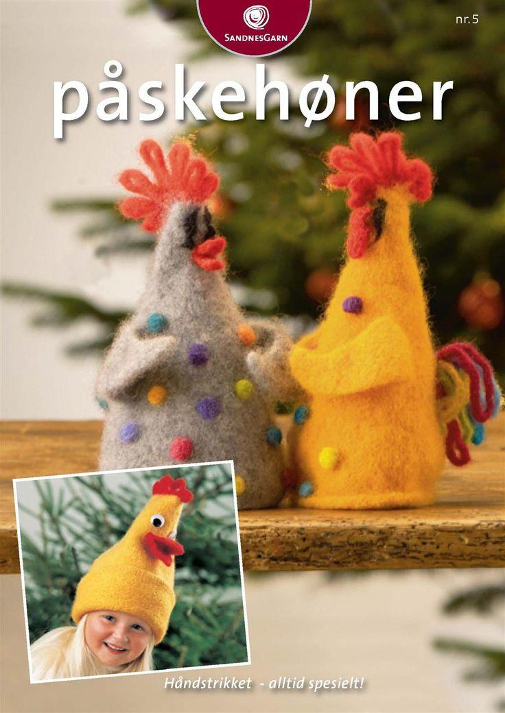 Gratis oppskrift. Påskehøner #strikk