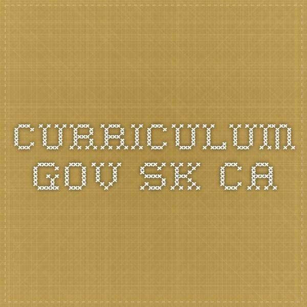 Saskatchewan curriculum DR8.1 and DR8.3