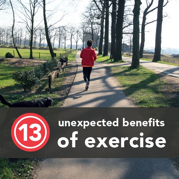 Unexpected benefits of #exercise