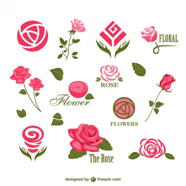 Flower vector logos templates Vector | Free Download