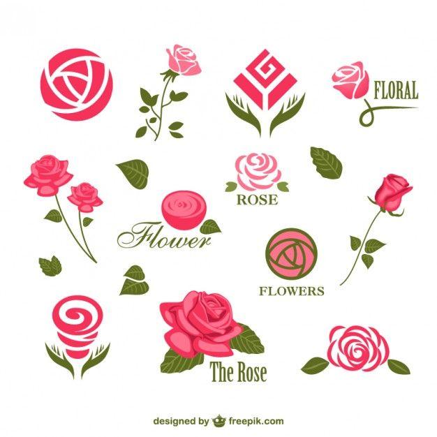 Flor do vetor logos modelos Vetor grátis