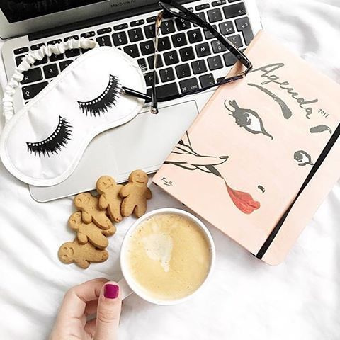 Not only does this 'Read my lips' 17-month agenda by #KateSpade look mighty pretty from the front, inside there are sweet sayings and quotes throughout to add a little motivation to the start of each new month. Available at #shoprubyfrank.