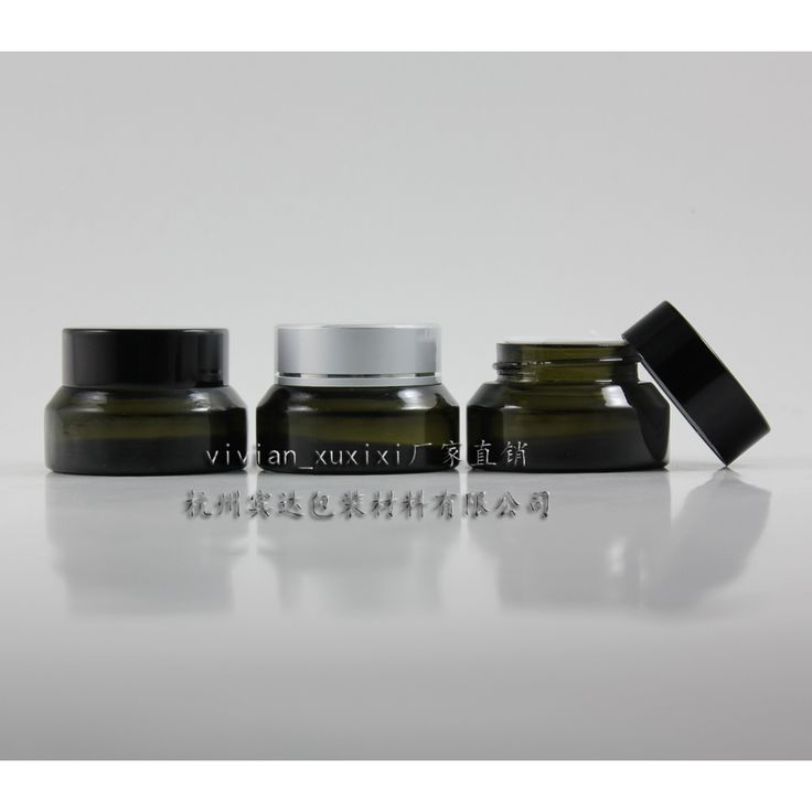 15g olive green glass cream jar with black/silver aluminum lid, 15g cosmetic jar,packing for sample/eye cream,15g mini bottle