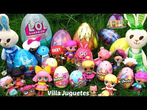 (1254) Muñecas LOL Buscan Huevos Sorpresa en el Patio de Casa Mágica y Rocker - YouTube