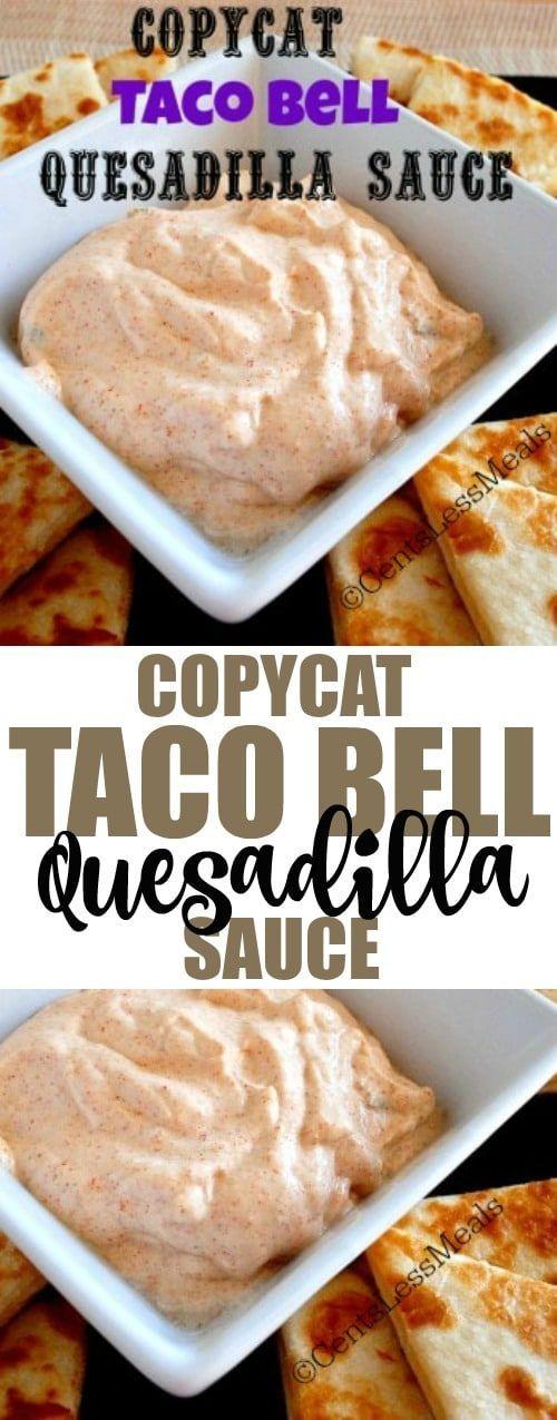 Copycat Taco Bell Quesadilla Sauce Recipe (Vegan Mexican Quesadilla)