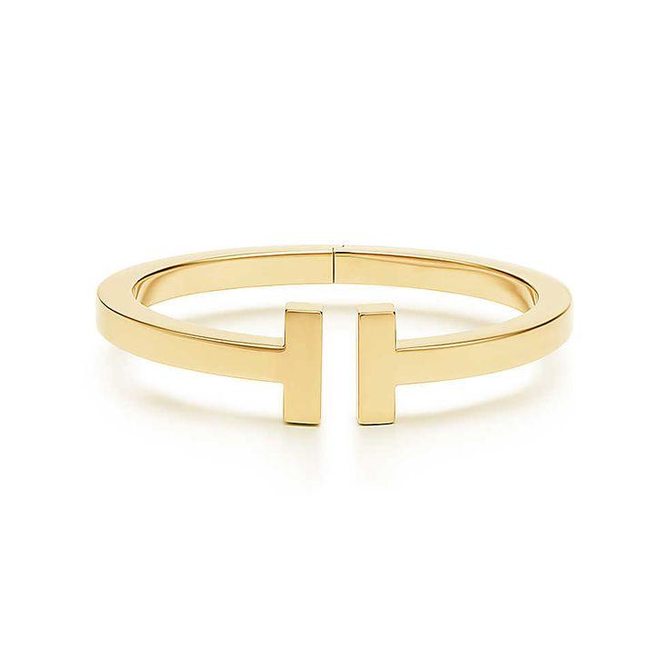 Eckiges Tiffany T Square Armband aus 18Karat Gold, Medium. | Tiffany & Co.