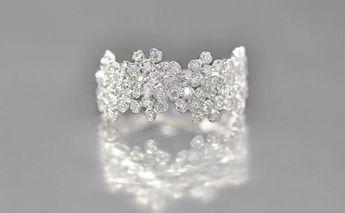 Grey Gold Diamond Cluster Ring Supreme