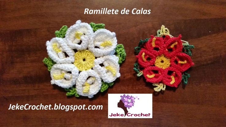Jeke Crochet: Ramillete de Calas