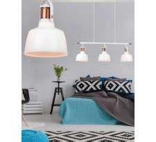 LAMPA wisząca DARLING GLASS MD71940-1A Azzardo szklana OPRAWA zwis loft biały
