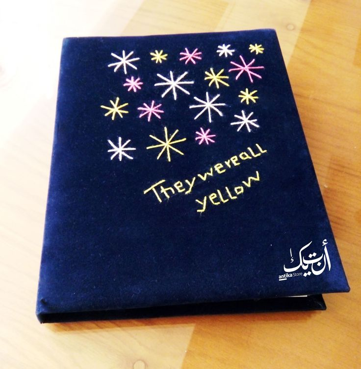 Note Book Gift Dark Blue Colors They were all yellow Happiness Handmade Crafts انتيكا  حب الجمال  <3 فن اسعاد الاخرين