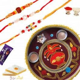 Buy #Rakhi Online for #Rakshabandhan with Shagun #Thali and #Sweets from http://www.rakhistoreonline.com/buy-rakhi-with-thali/rakshabandhan-shagun-thali-with-sweets.html