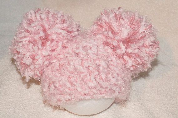 Super soft pink pompom hat by AllAboutNoggins on Etsy, $25.00