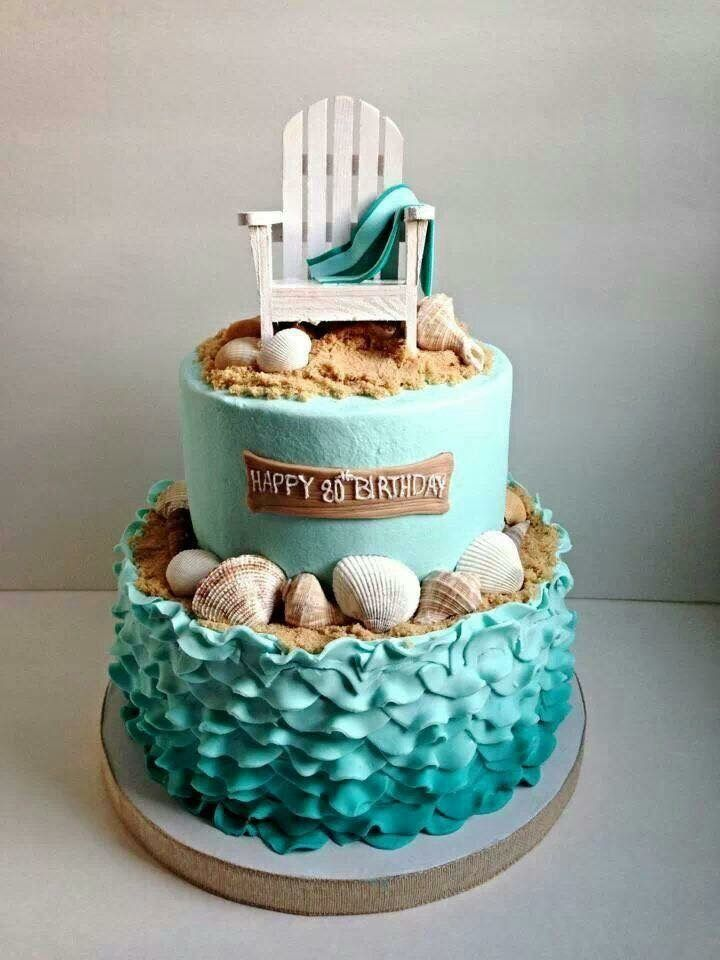 Beautiful beach theme cake.