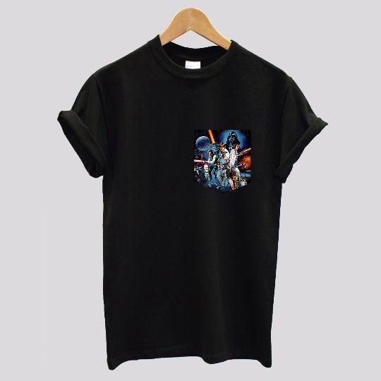 Star Wars Soft Style Black/White Pocket T-shirt