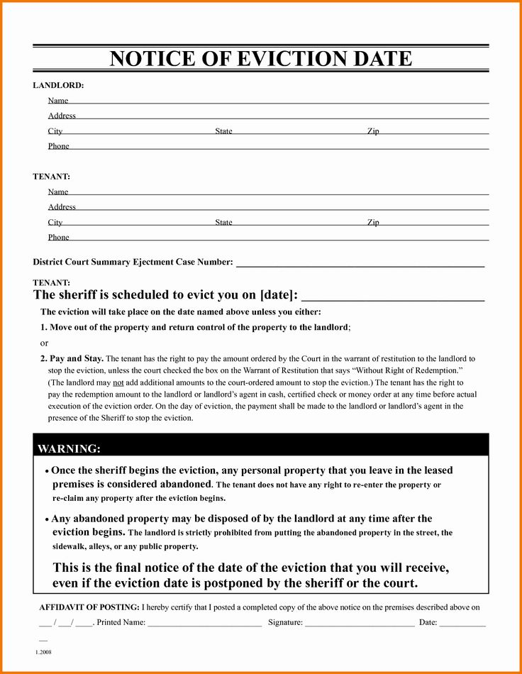 Abandoned Personal Property Letter Sample Luxury Free Eviction Notice Form Free Eviction Notice Template Eviction Notice Being A Landlord Lettering