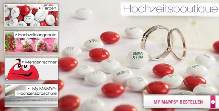 Hochzeit | My M's®  mit unseren Namen drauf - http://www.mymms.de/anlasse/hochzeit.aspx#