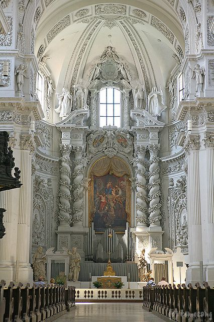 This may not be castle appropriate, but it is so breath taking..I have to pin...Theatinerkirche Munich, Germany