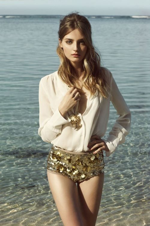 Gold sequin panties! yes!! A New Day Is Dawning