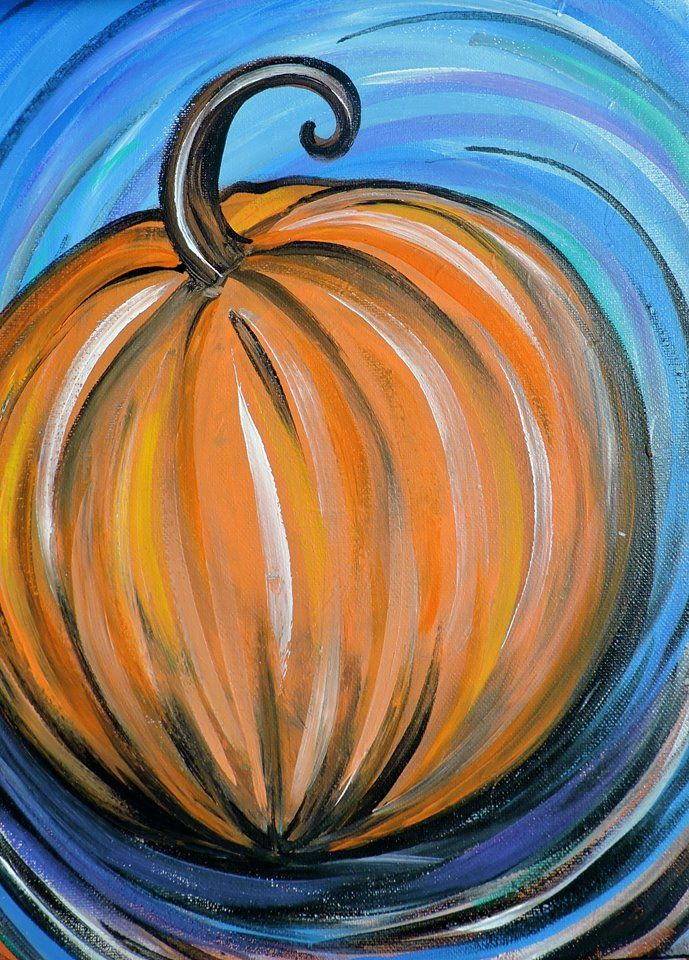 Acrylic Painting for Beginners: Funky Pumpkin