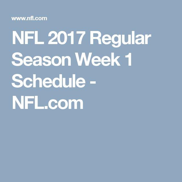 NFL 2017 Regular Season Week 1 Schedule - NFL.com