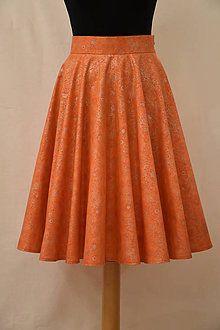 Sukne - oranžová striebornica - 7626670_