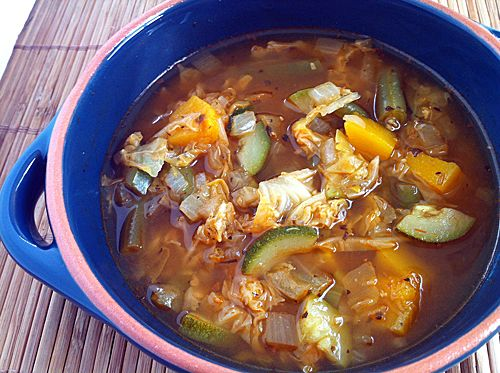 Weight Watchers Zero Point Vegetable Soup...add roasted butternut squash or sweet potatoes and/or beans