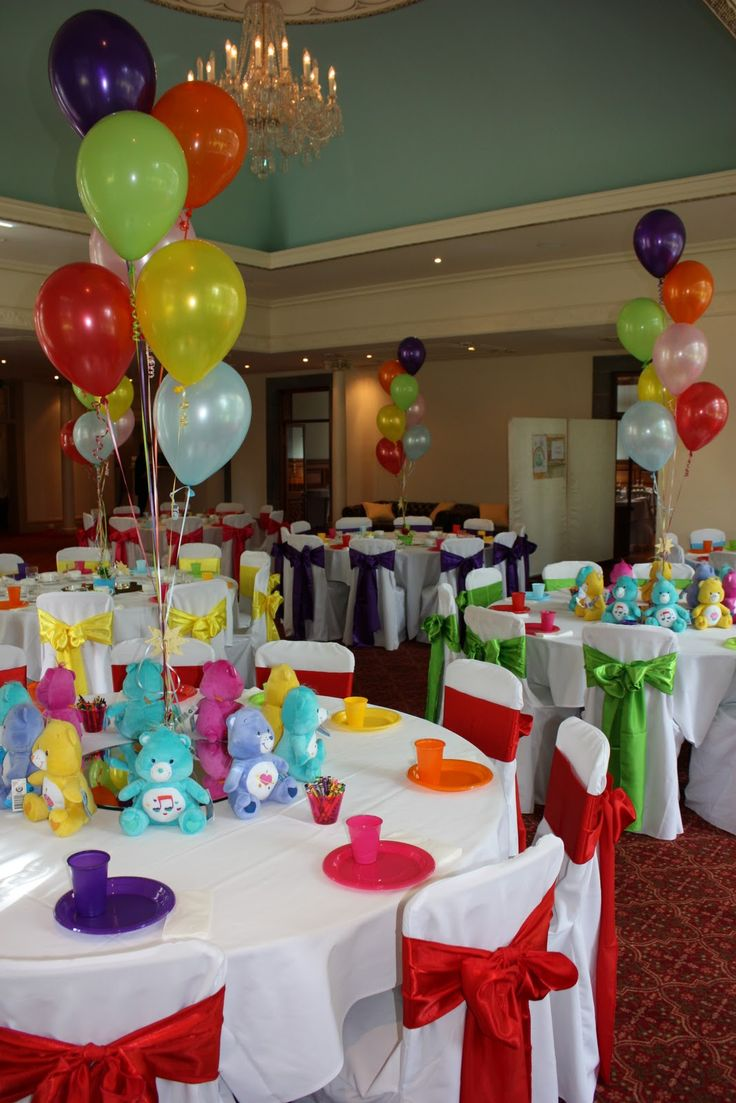 Best 25 care bear party ideas on pinterest care bear for Baby birthday decoration ideas