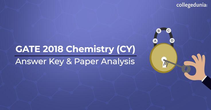 Gate Chemistry 2018 Answer Key