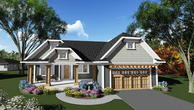 Plan 890013ah craftsman ranch house plan with unique look for Unique craftsman house plans