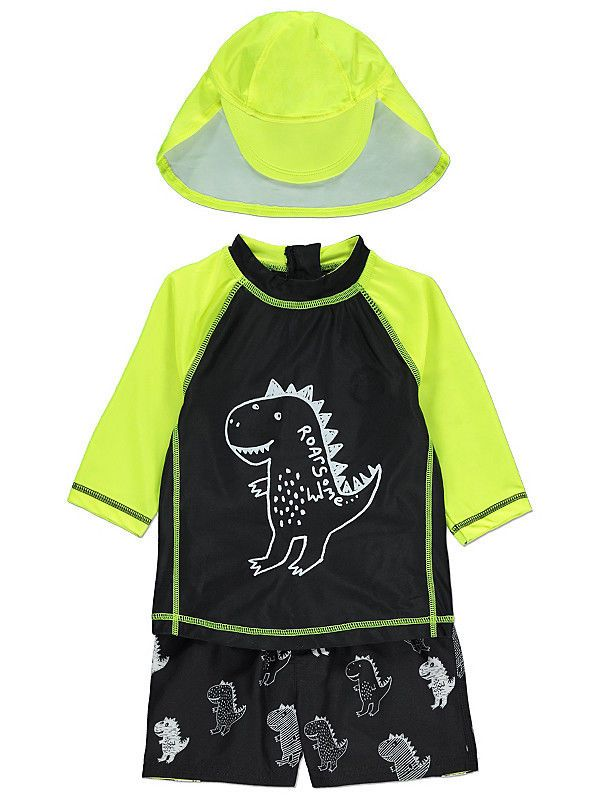 1ccb668558 Boys 3 Piece Swimsuit With Hat Sun Protection Uv40 Sunsafe Set Bnwt  ebay   Fashion