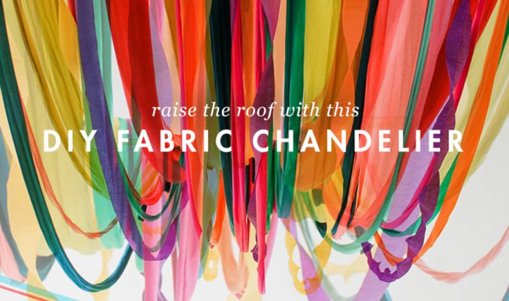 Raise the roof with this DIY fabric chandelier.