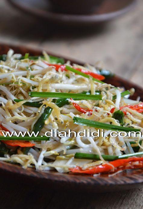 Diah Didi's Kitchen: Tumis Taoge & Teri Medan